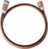 Gardena Anschlussgarnitur Comfort FLEX 13 mm (1/2 Zoll), 1.5 m: Schlauchadapter zum Anschluss des Schlauchwagens, Schlauch mit Schnellkupplungen und Hahnstück, 25 bar Berstdruck (18040-20)